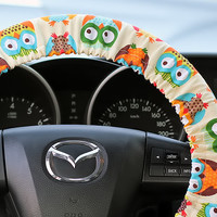 Steering-Wheel-Cover-Original-Hand-made-Big-Owls-Cover