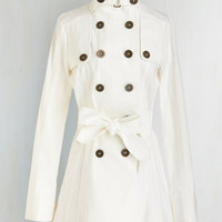 Military Long Long Sleeve Double Breasted Before, Enduring, and After Coat by Jack by BB Dakota from ModCloth