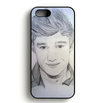 One Direction Liam Payne Art Pencil iPhone 5, iPhone 5s and iPhone 5S Gold case