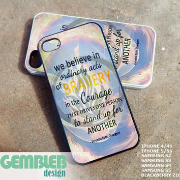 divergent quote the dauntless - iPhone 4/4s/5/5c/5s Case - Samsung Galaxy S2/S3/S4 - Blackberry z10 - iPod 4/5 Case - Black or White