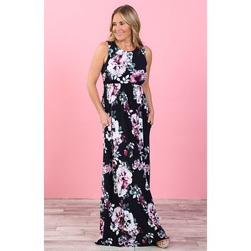 Kaydence Watercolor Floral Maxi Dress | S-XL