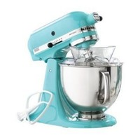 KitchenAid KSM150PSAQ 5-Qt. Artisan Series with Pouring Shield - Aqua Sky