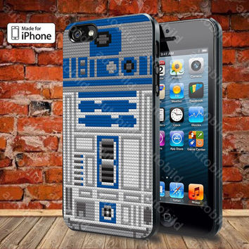 Star Wars r2d2 lego Case For iPhone 5, 5S, 5C, 4, 4S and Samsung Galaxy S3, S4