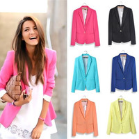 Womens Blazer Coat Jacket With Long Sleeve