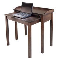 Winsome Wood Kendall Pull Out Computer Desk - Antique Walnut