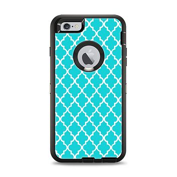 The Morocan Teal Pattern Apple iPhone 6 Plus Otterbox Defender Case Skin Set