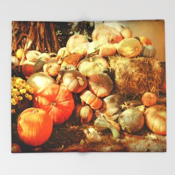 Autumn Collection Throw Blanket by Theresa Campbell D'August Art