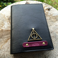 Deathly hallows Harry Potter Personalized passport cover, Passport cover, Passport holder, Leather passport cover, Leathe passport holder