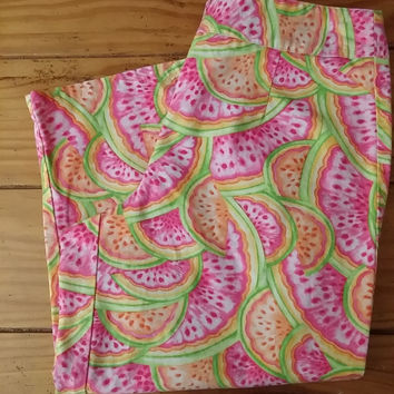 Talbots Crop Pants Fruit Slices Women's Size 6 Petite Summer