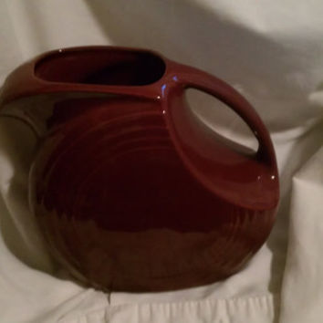 Vintage Home Laughlin Fiestaware Pitcher Maroon