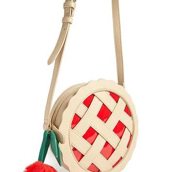 Cherry Pie Circle Crossbody Bag