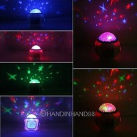 New Music Starry Star Sky Projection Home Light Alarm Clock Calendar Thermometer