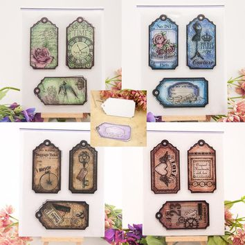 Clear Transparent Stamp Steampunk Craft Rubber Silicone Stamp Seal for DIY Scrapbooking Classic Tag Label Mark Paper Card Making