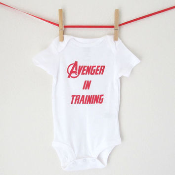 Superhero Bodysuit- Avenger in Training - Baby Avengers Toddler Creeper Super Hero