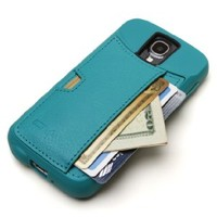 CM4 QS4-GREEN Wallet Q Card Case for Galaxy S4 - Pacific Green