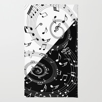 i love music Rug by Ancello