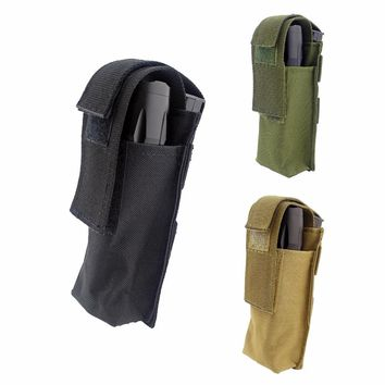 Tactical Military Portable Durable Medical EMT Scissor Pouch Bag Small Knife Holding Bag Camping  Hiking Torch Flashlight Pack