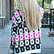 Join the Tribe II Cardigan - Fushia