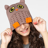 Neff Hooter Hat | Brown Owl Beanie | fredflare.com