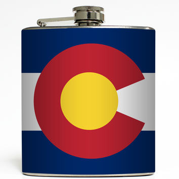 Colorado - State Flag Flask