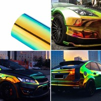 Color Change Chameleon Car Stickers Glossy Color DIY Car Sticker Car Body Films Vinyl Car Wrap Sticker Decal Air Release Film