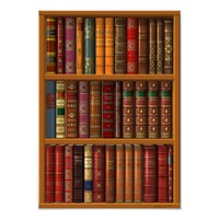"""Trompe l'oeil """"French library"""". Poster"""