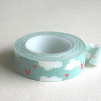 Washi tape Clouds and hearts by RhinoandRoo