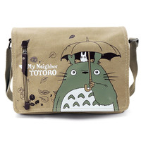 Anime My Neighbor Totoro Women Canvas Messenger Bag Shoulder Bag Sling Pack My Neighbor Totoro Handbag Cosplay Crossbody Bags