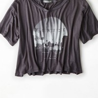 AEO Women's Don't Ask Why Loose Cropped T-shirt
