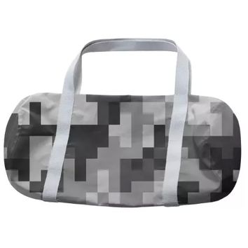 Pixel White and Black Urban Army Camouflage pattern