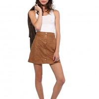 Emery Faux Suede Mini Skirt