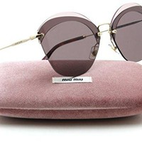 Miu Miu MU 53SS NOIR Collection Rimless Women Sunglasses