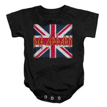 Def Leppard Boys' Union Jack Bodysuit Black Rockabilia