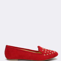 Roxanne Studded Flats - Red