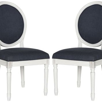 Holloway Oval Side Chair Navy (set of 2)