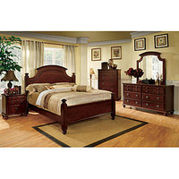 Furniture of America Rhone European Style Poster Bed - King Size