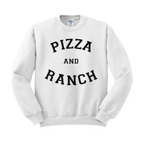 Pizza And Ranch Crewneck Sweatshirt