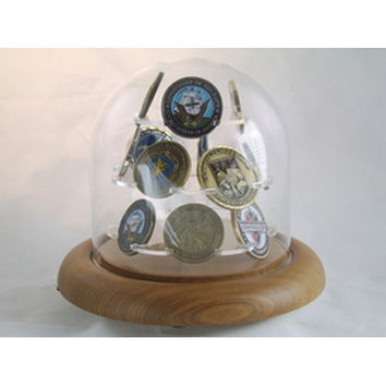 Coin Display Glass Dome for challenge Coin Hand Made By Veterans
