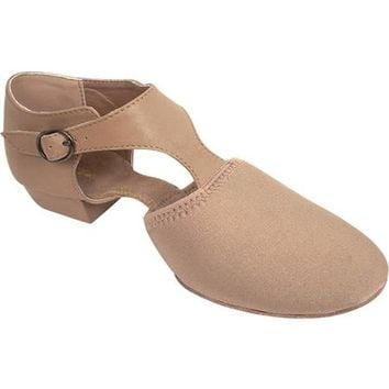 Dance Class by Trimfoot Women's Venus T-strap Jazz Shoe - Walmart.com