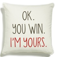 Levtex 'OK. You Win' Accent Pillow - Beige