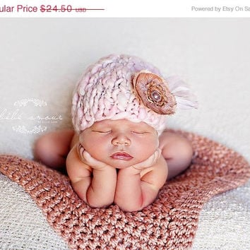 Sale Baby Blanket  Newborn Photo Prop Blanket Newborn Baby Photography Prop Hand Crochet Blanket