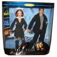 Barbie X Files Gift Set Rare Long Haired Scully & Mulder