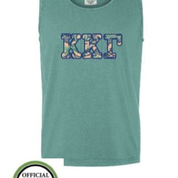 Kappa, Kappa Kappa Gamma Shirt, Kappa Kappa Gamma Tank Top, Appliqued Tank Top, Sorority Tank Top, Sorority Letters, Embroidered Tank Top