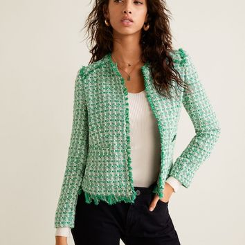 Pocket tweed jacket - Women | MANGO United Kingdom