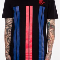 Vertical Striped Tee Black | Black Pyramid Store