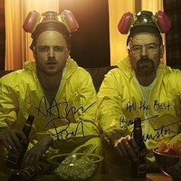 Bryan Cranston and Aaron Paul in Breaking Bad photo with Autographs:Amazon:Collectibles