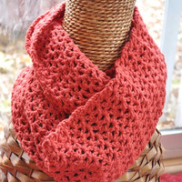ON SUPER SALE Infinity Scarf Burnt Orange