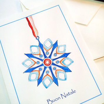 Best watercolor christmas cards art products on wanelo christmas ornament italian christmas greeting card geometric card modern art card watercolor m4hsunfo