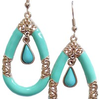 Mint Baroque Earrings