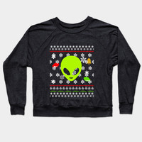 Ugly Christmas Sweater Alien by scarebaby